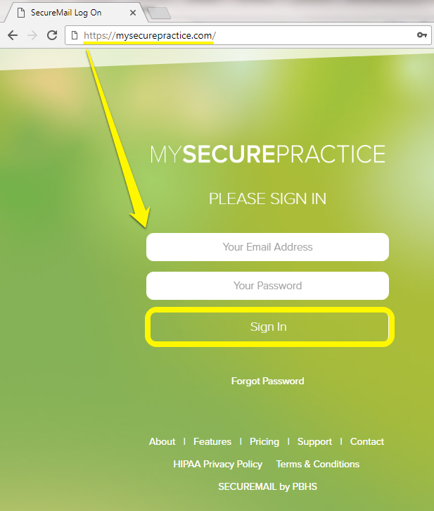 MySecurePractice Portal: How to Login and Forgot Password